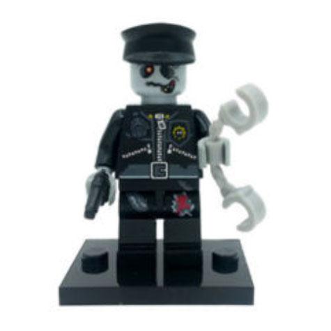 Zombi, rendőr minifigura - KÉSZLETRŐL!