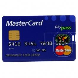 32 GB-os 2.0 pendrive, MasterCard bankkártya formában