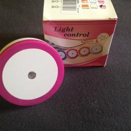 Szenzoros kör alakú rózsaszín LED-es éjjelifény