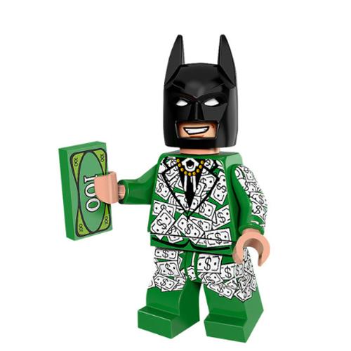 Batman minifigura zöld dolláros zakóban - KÉSZLETRŐL!
