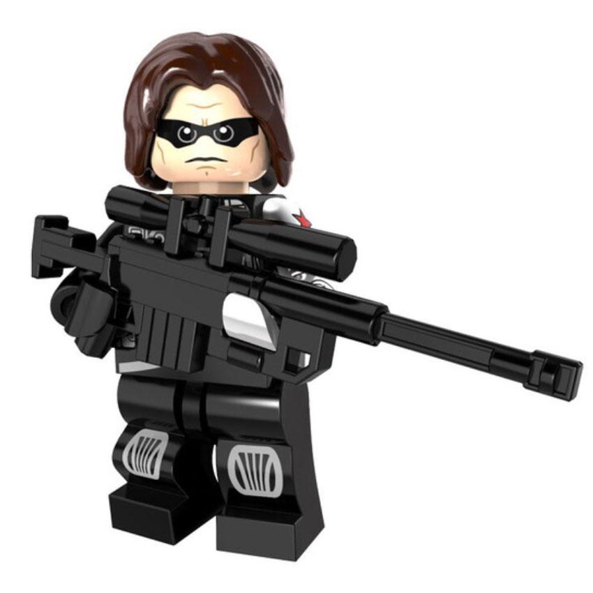 Bucky a tél katonája minifigura - KÉSZLETRŐL!