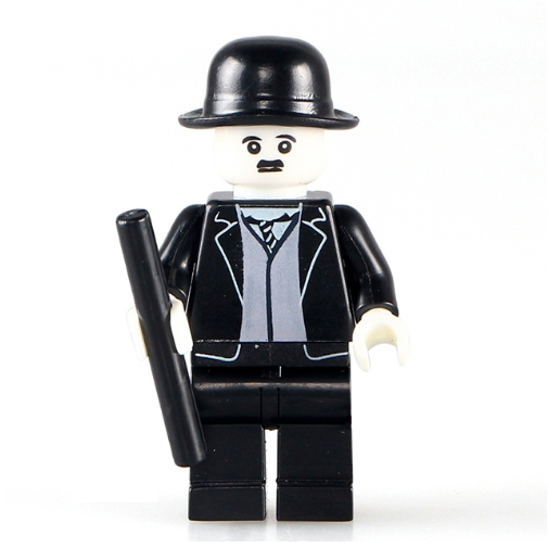Charlie Chaplin minifigura - KÉSZLETRŐL!