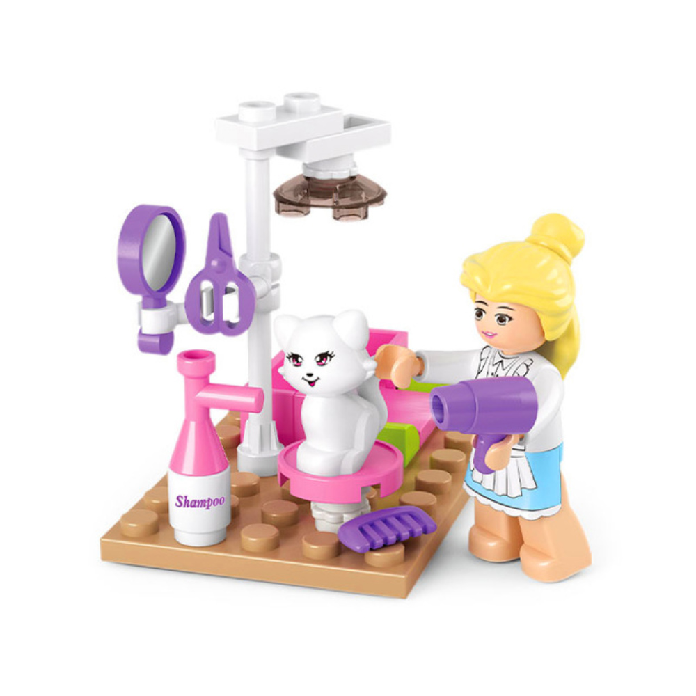 Friends - Kisállat kozmetikus lány minifigura eszközökkel (30 darabos) - KÉSZLETRŐL!