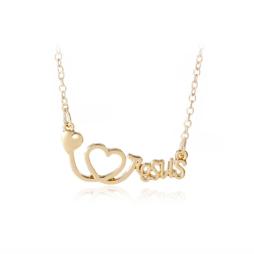i-love-jesus-medalos-nyaklanc-arany-szin