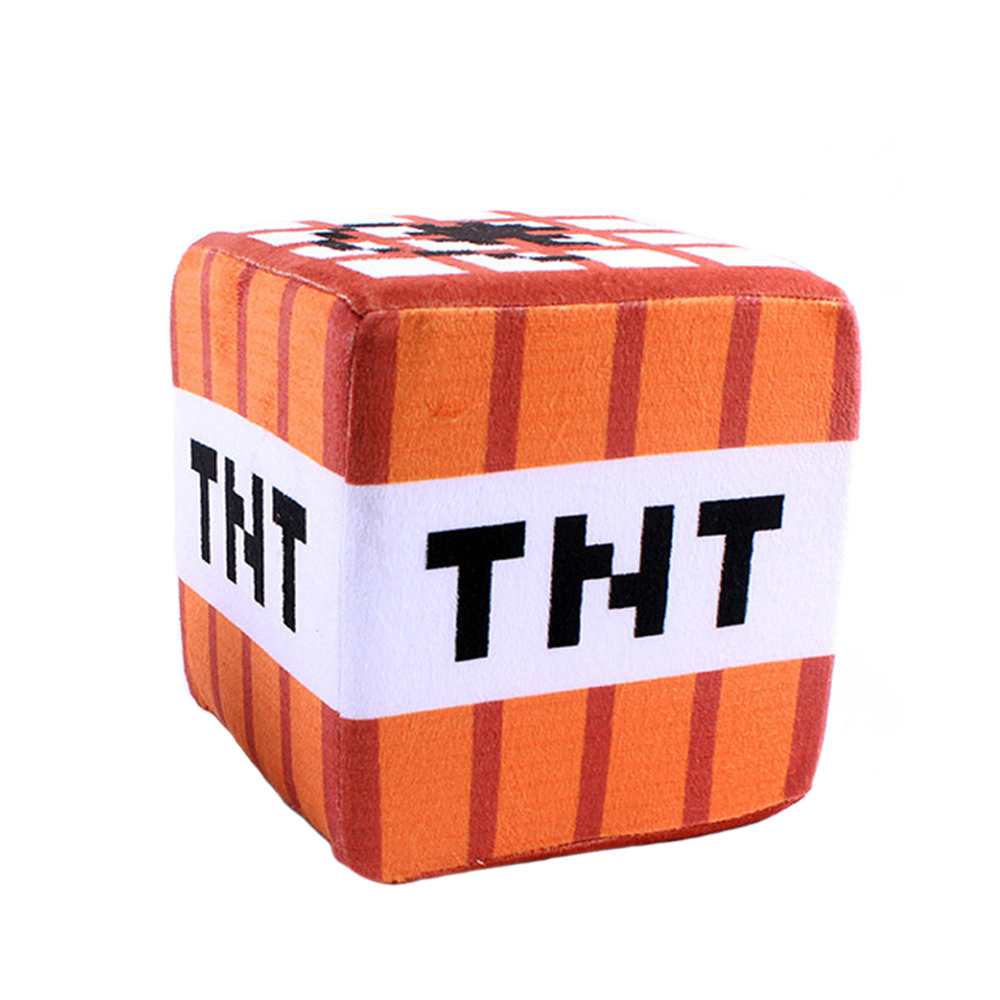Minecraft párna - TNT kocka 20cm méretben - KÉSZLETRŐL!