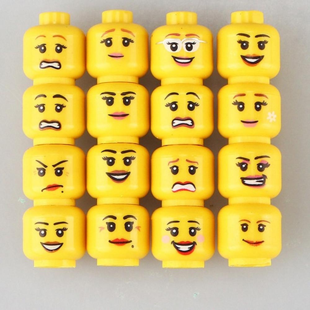 Minifigura női arcok - 16 darab - KÉSZLETRŐL!