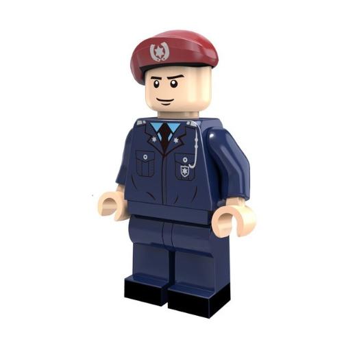 Rendőr hadnagy tiszt minifigura - KÉSZLETRŐL!