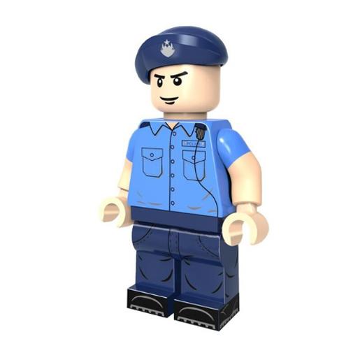 Rendőr őrmester tiszt minifigura - KÉSZLETRŐL!