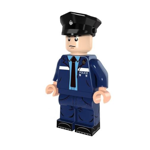 Rendőr tiszt minifigura - KÉSZLETRŐL!