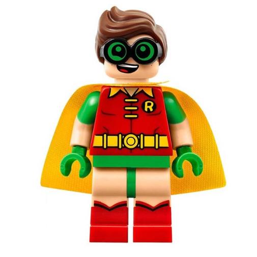 Robin minifigura dilis szemüveggel és sárga palásttal - KÉSZLETRŐL!