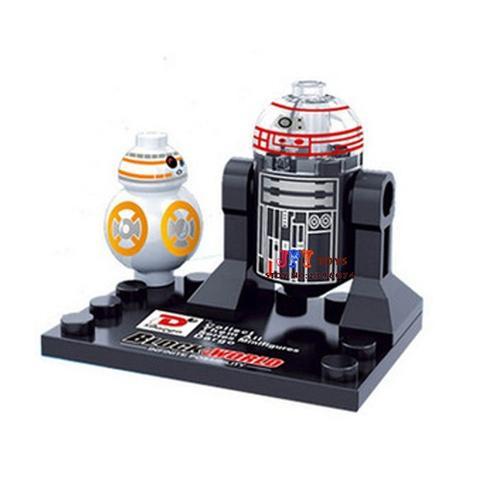 Star Wars, R2-Q5 és BB-8 minifigura - KÉSZLETRŐL!
