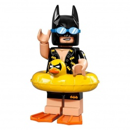 Batman minifigura kacsás úszógumival