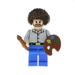 Bob Ross festőművész minifigura