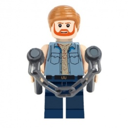Chuck Norris minifigura nunchakuval