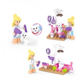 Friends - Kisállat kozmetikus lány minifigura eszközökkel (30 darabos)