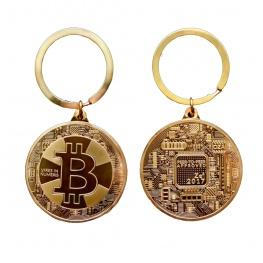 Limitált kiadású, egyedi Bitcoin kulcstartó, táskadísz (2017-es kiadás) - arany színben