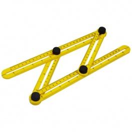 Profi állítható négyoldalas, összecsukható mérőeszköz - sárga színben