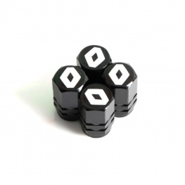 Renault fekete színű szelepsapka (4db) - vékonyfalú