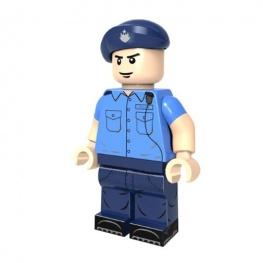 Rendőr őrmester tiszt minifigura