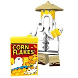 Sensei Wu minifigura Corn Flakes dobozzal