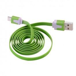 Olaf 1 méteres Micro USB 2A gyorstöltő kábel - zöld színben