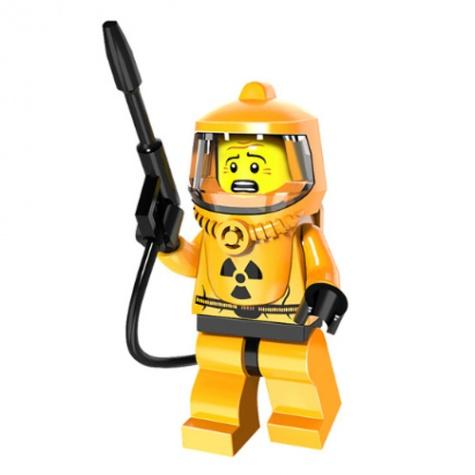 Nukleáris védőruházatos minifigura