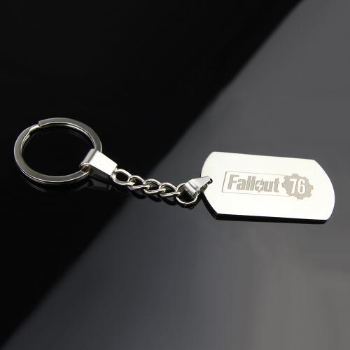 Fallout 76 kulcstartó, táskadísz - ezüst színben - KÉSZLETRŐL!