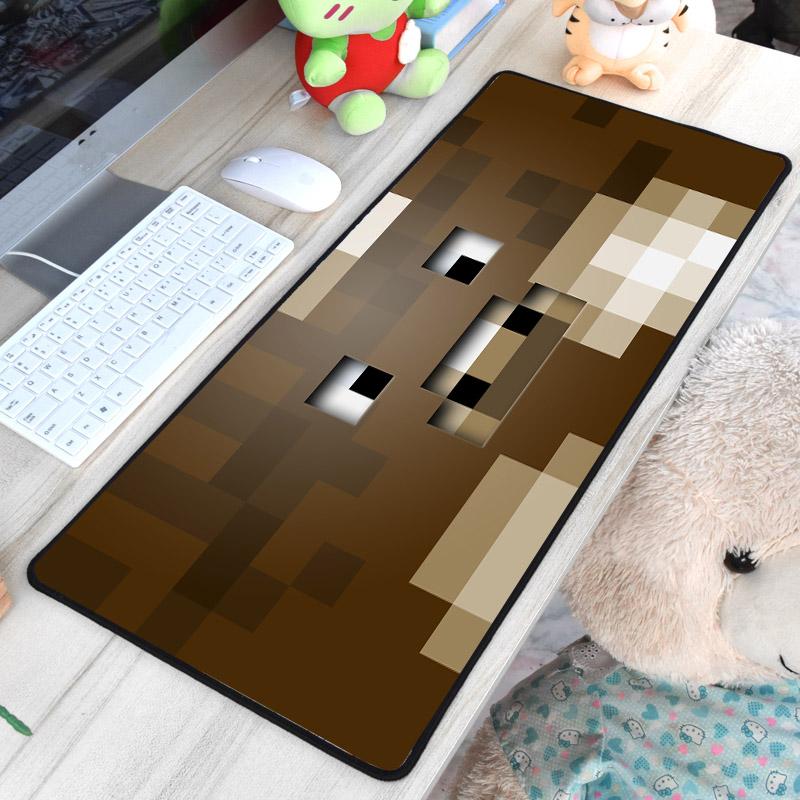 Minecraft XXL gamer szövet egérpad (igazi fanoknak) - barna színben