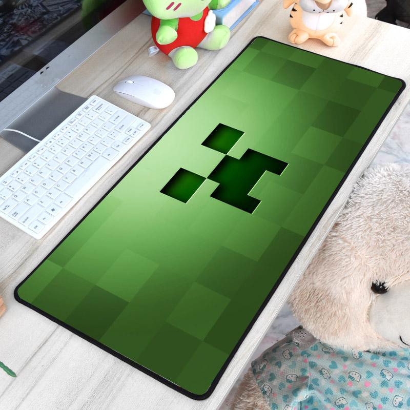 Minecraft XXL gamer szövet egérpad (igazi fanoknak) - zöld színben - KÉSZLETRŐL!