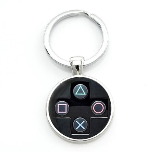 PlayStation controller kulcstartó, táskadísz - fekete színben - KÉSZLETRŐL!