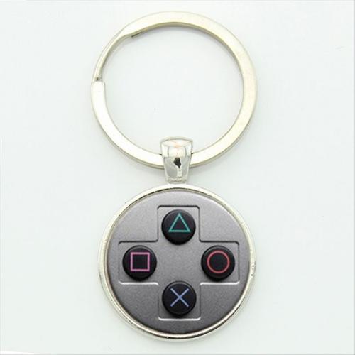 PlayStation controller kulcstartó, táskadísz - szürke színben - KÉSZLETRŐL!