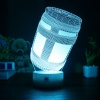 7 színben világító LED-es, gravírozott Fortnite Chug Jug akril szobor távirányítóval