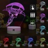 7 színben világító LED-es, gravírozott Fortnite Gliding akril szobor távirányítóval