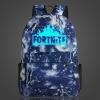 Világító Fortnite hátizsák - kék villám színben