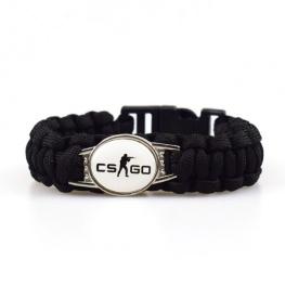 CS:GO paracord karkötő - fekete színben (CSGO)