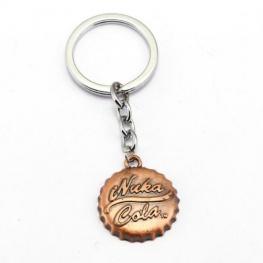 Fallout Nuka Cola kupak kulcstartó, táskadísz - rozsda színben