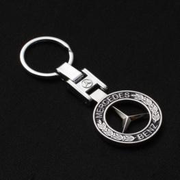 Mercedes-Benz kulcstartó, táskadísz - fekete színben
