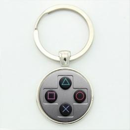 PlayStation controller kulcstartó, táskadísz - szürke színben