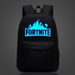 Világító Fortnite hátizsák - fekete színben