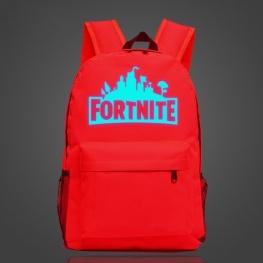 Világító Fortnite hátizsák - piros színben