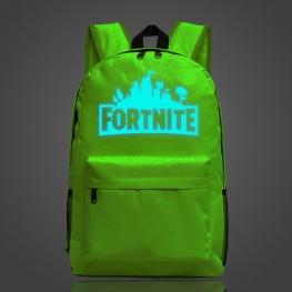 Világító Fortnite hátizsák - zöld színben