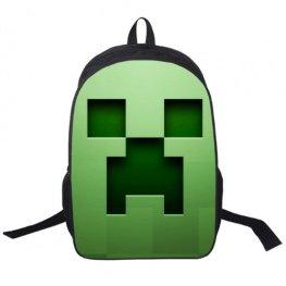 Minecraft hátizsák - Kúszónövény (Creeper) mintával - Normál méretben