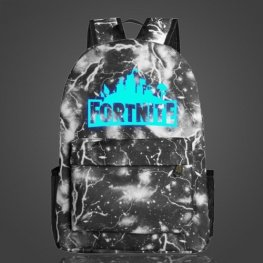 Világító Fortnite hátizsák - fekete villám színben