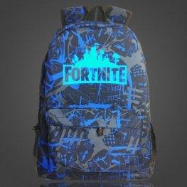 Világító Fortnite hátizsák - szürke kék színben