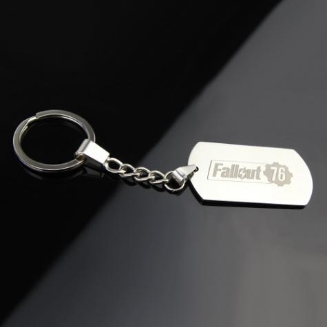 Fallout 76 kulcstartó, táskadísz - ezüst színben