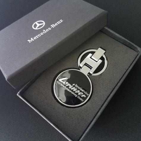 Mercedes-Benz Lorinser kulcstartó, táskadísz - fekete színben