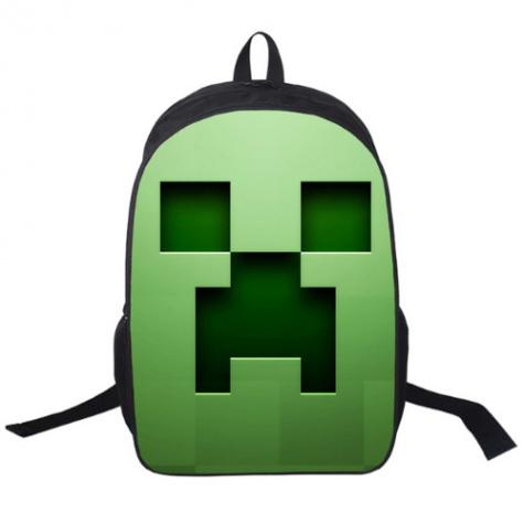 Minecraft hátizsák - Kúszónövény (Creeper) mintával - Normál méretben 7008e5ae72