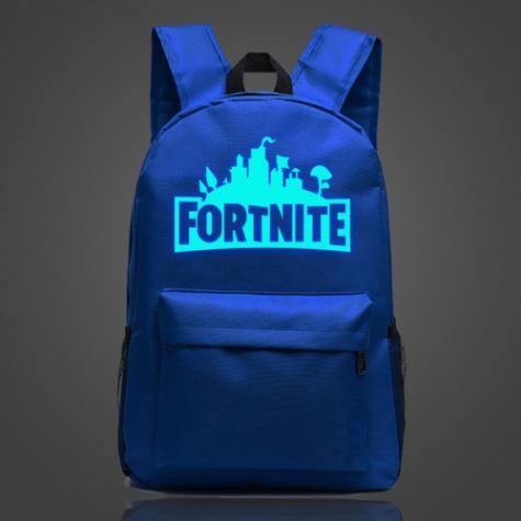 Világító Fortnite hátizsák - kék színben