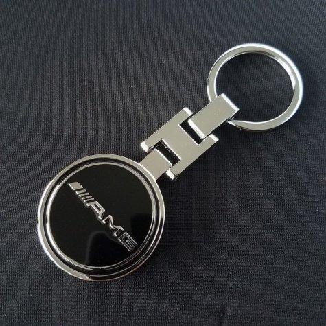 Mercedes-Benz AMG kulcstartó, táskadísz - fekete színben