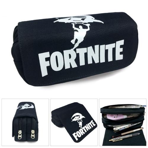 Fortnite gamer tolltartó (2 részes) - fekete ejtőernyős színben - KÉSZLETRŐL!